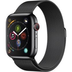 Apple Watch 4-44mm-GPS+LTE  (Stainless Steel Case with Space Black Milanese Loop