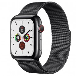 Apple Watch Series 5 40mm Space Back Stainless Steel Case with Milanese Loop
